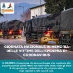 18 marzo: Giornata nazionale in memoria delle vittime dell'epidemia da coronavirus